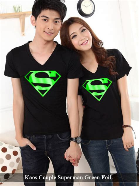 kaos superman green foil harga 85rb reseller 65rb