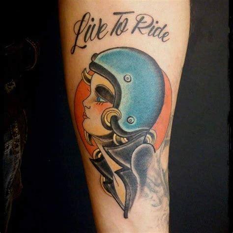 Motorrad Pin Up Tattoo by Biker Tattoos Tattoo S Pinterest Biker Tattoos
