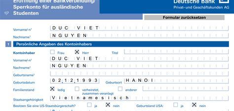 deutsche bank völklingen hướng dẫn điền đơn v 224 mở t 224 i khoản deutsche bank updated 2
