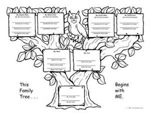 one sided family tree template family tree template family tree template one side