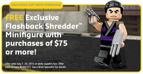 Brick Lego Lego 5002127 Flashback Shredder lego tmnt flashback shredder minifigure promo revealed