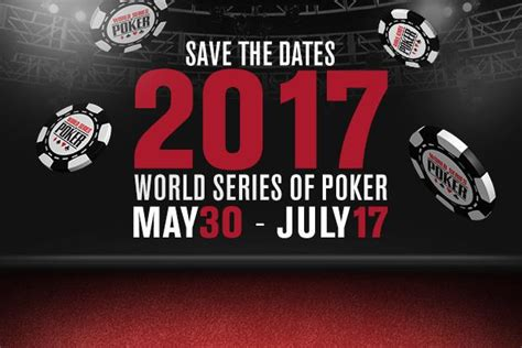 wsop event table 2017 wsop announces events in 2017 schedule