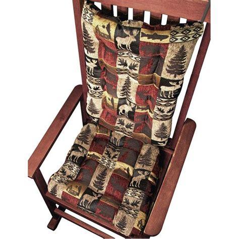 rustic rocking chair pads woodlands fairbanks rocking chair cushions foam