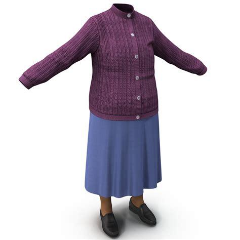 3d model elderly clothing