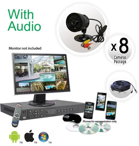 8 security system with audio