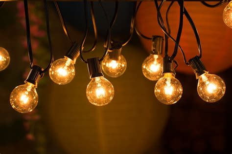 bulb string lights fantado globe string lights 50ft g40 socket 50 bulbs set of 2 wedding recycle