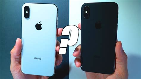 x v color iphone x space gray vs silver