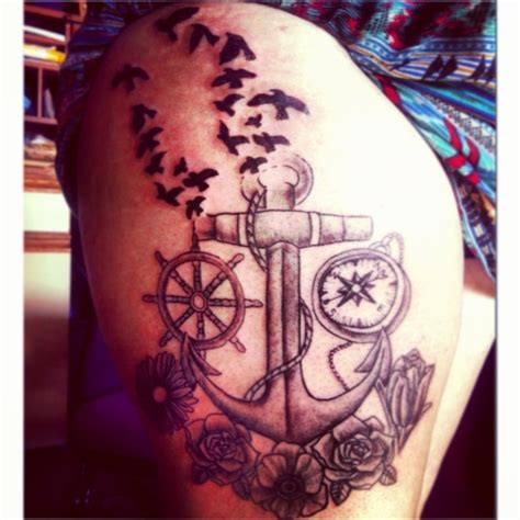 anchor thigh tattoo 58 best images about tattoos and piercings on