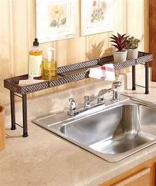 Kitchen Sink Organizer Shelf The Sink Shelf Kitchen Bathroon Storage Space Home Decor Bronze Basket Ebay