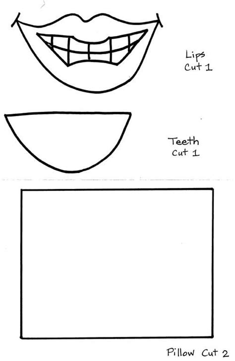 tooth writing template pin tooth templates pictures on