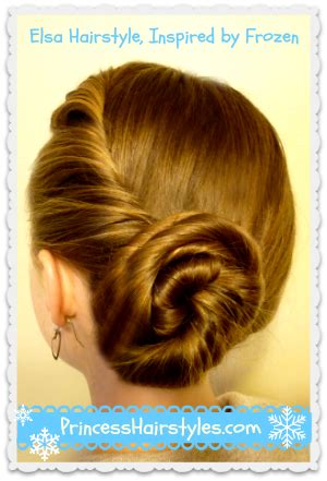 from frozen hairstyle the twist and bun updo hairstyle elsa was wearing at the