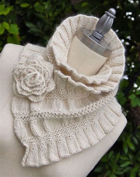pattern for knitted scarf with ruffle ruffled and ruched scarf pdf knitting pattern instant