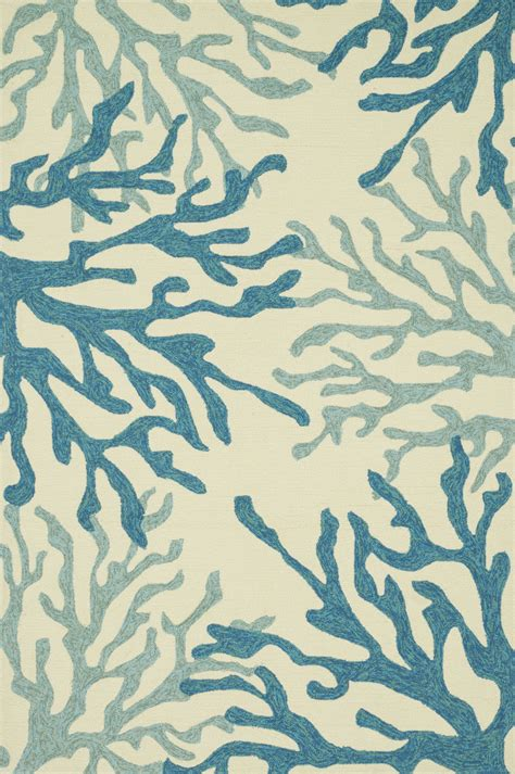 Coral Area Rugs by Loloi Loloi Ventura Hvt04 Blue Coral Area Rug 102681