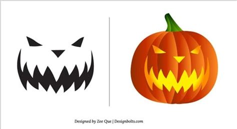 scary pumpkin faces templates free scary pumpkin free vector in adobe