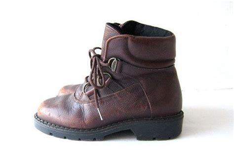 vintage leather hiking boots s 6