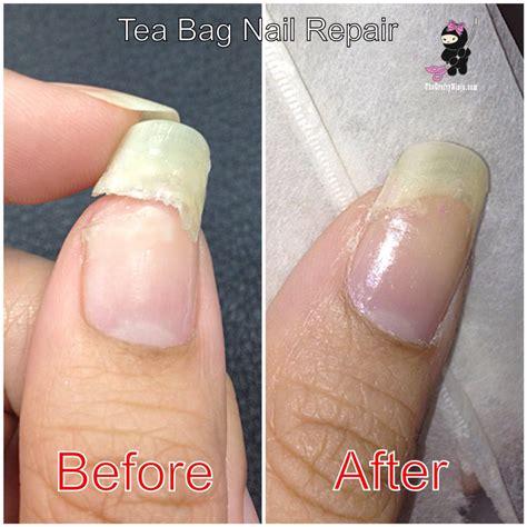 nail cracked another way to repair a broken nail w tea bag nail care tricks