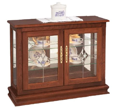 amish small console curio cabinet display case