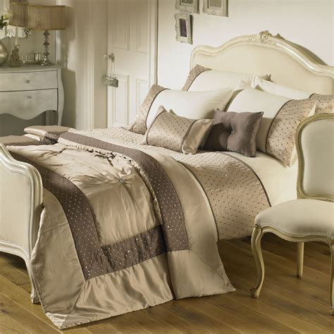 comforters and bedspreads bedding set in taupe next day delivery riva home romantica