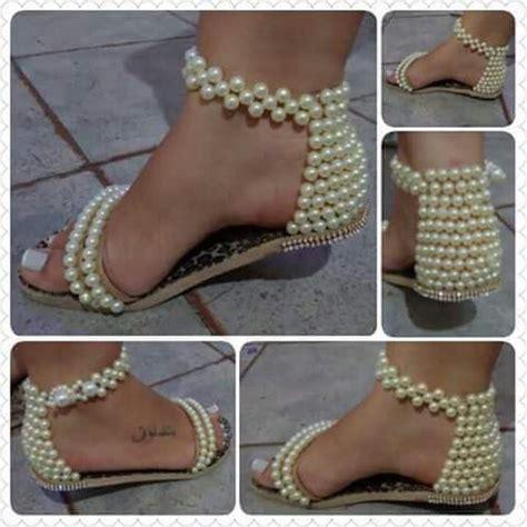 decorar zapatos con perlas fofo zapatillas con perlas
