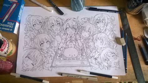 Snowman Drawing Pen Ft 700 Ukuran 03 gochiusa wip part 2 by chaoslag on deviantart