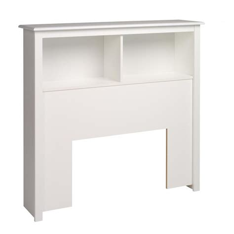 prepac bookcase headboard white