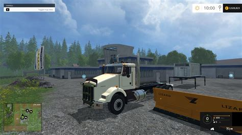 salt ls and cats kenworth t800 plow truck csi v1 farming simulator