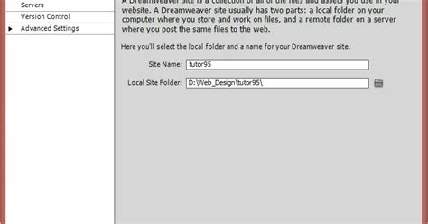 tutorial dreamweaver cs5 lengkap membuat site definition manage site pada adobe