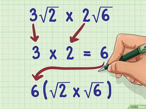multiplicacion de raices cuadradas c 243 mo multiplicar ra 237 ces cuadradas 8 pasos con fotos