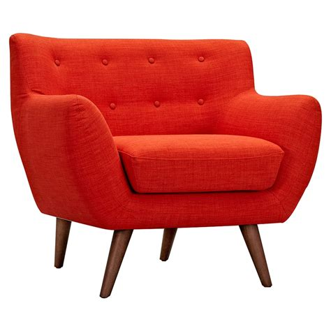tufted upholstery ida button tufted upholstery armchair retro orange dcg