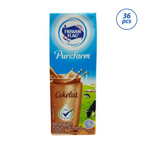 Frisian Flag Coklat 225ml jual frisian flag chocolate uht 36 pcs 225ml harga kualitas terjamin blibli
