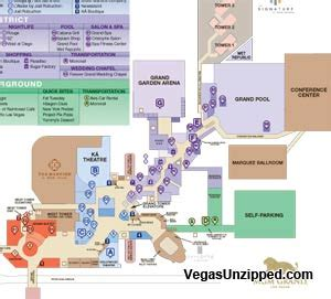 mgm grand map las vegas hotel and casino property maps list