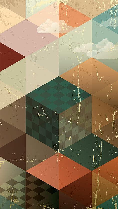 wallpaper for iphone retro vintage abstract geometries wallpaper free iphone wallpapers