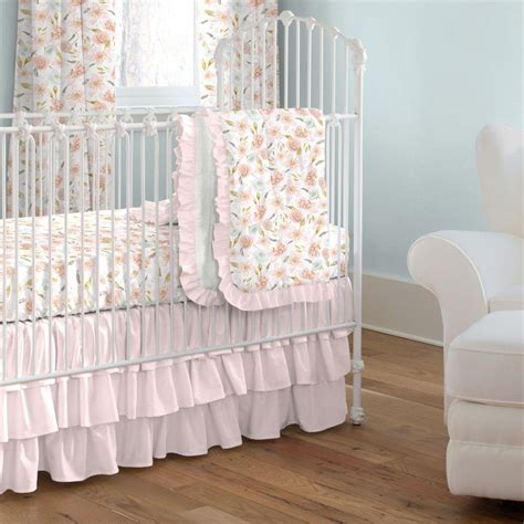 Flower Crib Bedding Pink Hawaiian Floral Crib Bedding Carousel Designs