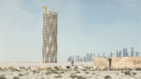 designboom architecture for death qatar world cup memorial by 1week1project honors deceased