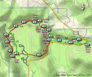 silver falls oregon map silver falls state park hikes