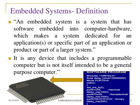 define systemize an entire concept of embedded systems