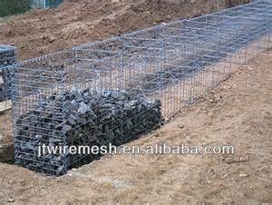 denfence pvc coated wire cages gabion rock retaining wall