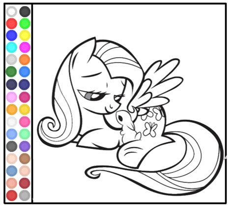my little pony games coloring pages in color coloring book games my little pony coloring pages my