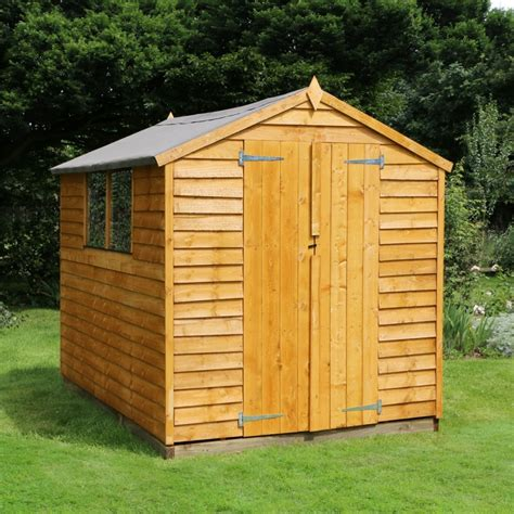 overlap apex wooden garden shed  express uk