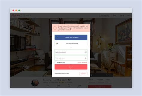 airbnb login designing in color marvel blog