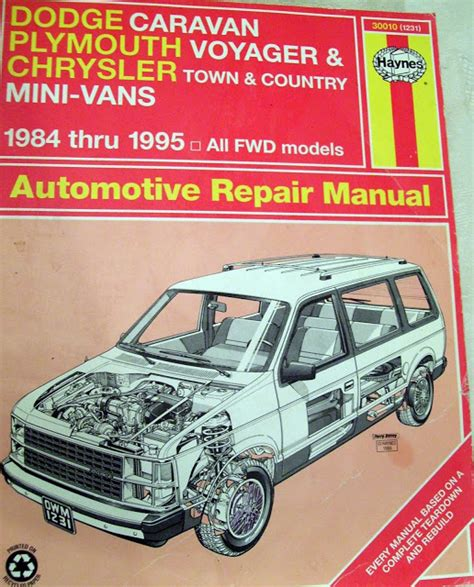 dodge caravan repair manual ebay service manual 1985 plymouth voyager fuse manual 1984 1985 dodge caravan plymouth voyager