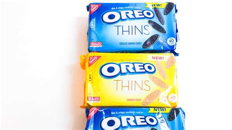 New Oreo Thins Crispy Cookies 95g oreo debuts version called oreo thins eater