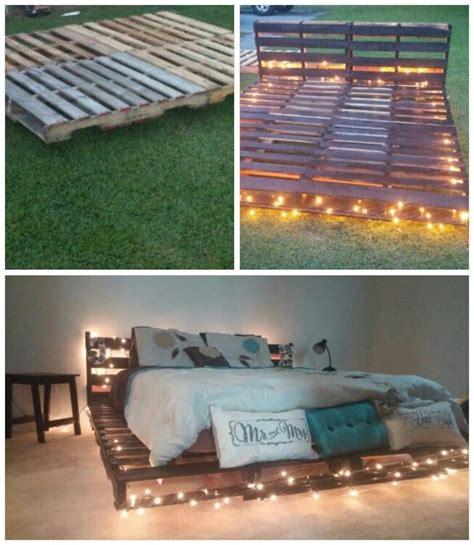 Pallet Bed Frame Diy Best 25 Diy Bed Frame Ideas Only On Pinterest Bed Ideas Pallet Platform Bed And King