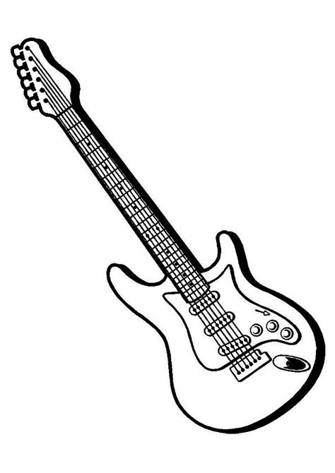 25 colorful guitar coloring pages for your little ones