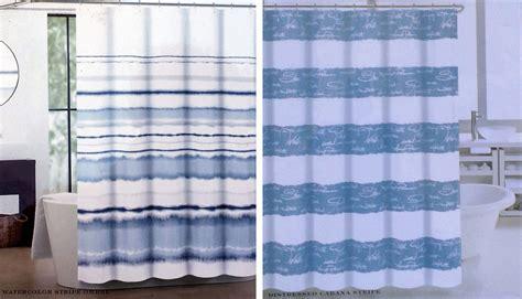 max studio shower curtain max studio blue white watercolor ombre distressed cabana
