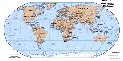 large detailed political map   world  world