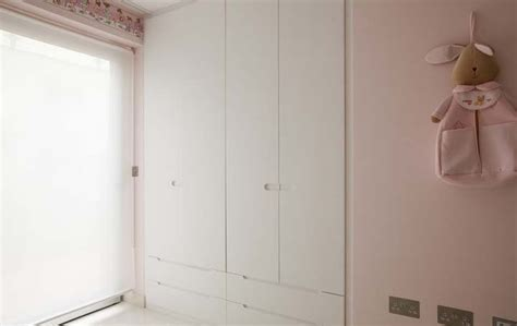 Starplan Fitted Wardrobes by Children S Wardrobes In White Satin Lacquer And Recessed Handles Shelving And Wardrobes