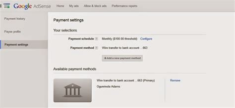 adsense bank account verification how to receive adsense earnings into nigeria bank account