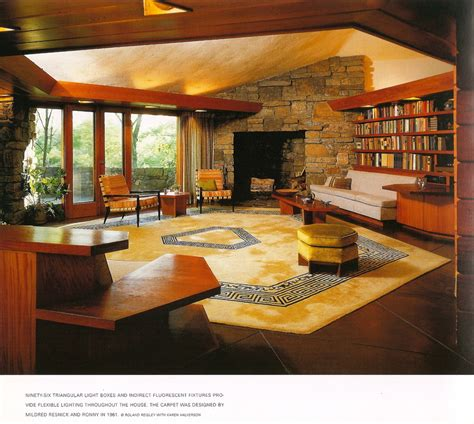 frank lloyd wright living room living room reisley house architecture frank lloyd