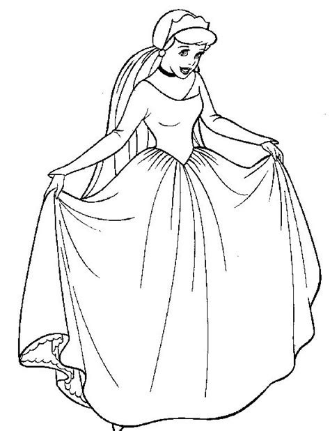 cinderella bride coloring pages cenerentola da colorare disegni gratis